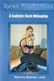 Syren a sadistic back whipping