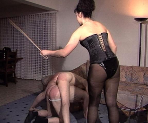 Unisex wife canes husband femdom mom nude