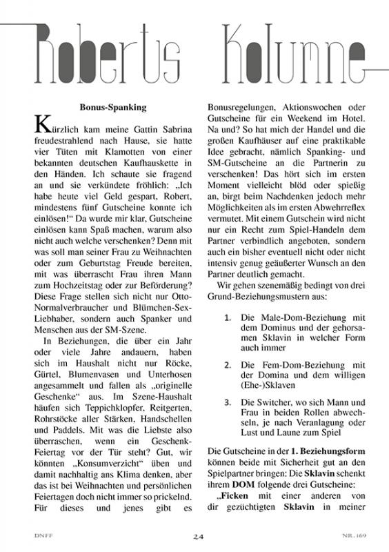 Das neue Flagellanten Forum Nr. 169
