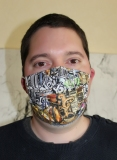 Gesichtsmaske UNISEX - Modell Grafitti