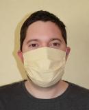 Communitymaske - sandfarben - Handarbeit - 100% Baumwolle -. hochwertig verarbeitet!